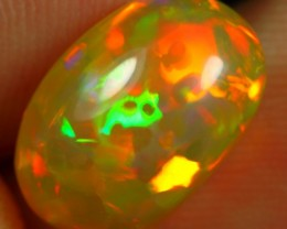 3.40cts BRILLIANT 5/5 NEON FLASH FIRE Natural Untreated Ethiopian Welo Opal