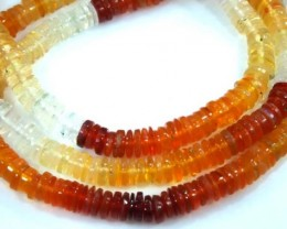 39.70 CTS MEXICAN FIRE OPAL BEADS STRANDS TBO-4371