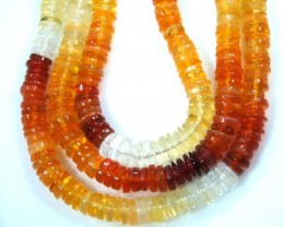 40 CTS MEXICAN FIRE OPAL BEADS STRANDS TBO-4372