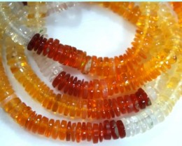 39.90 CTS MEXICAN FIRE OPAL BEADS STRANDS TBO-4373