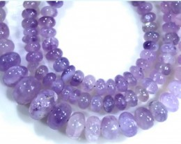 92.40 CTS PLAIN PURPLE OPAL BEADS TBO-4400