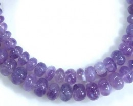 113 CTS PLAIN PURPLE OPAL BEADS TBO-4401