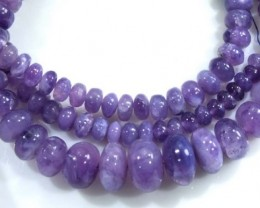 118 CTS PLAIN PURPLE OPAL BEADS TBO-4403