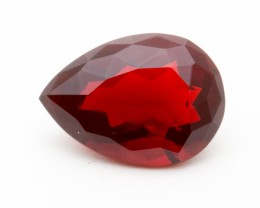 7.8ct Faceted Red Pear Mexican Fire Opal (MO199)