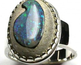 OPAL STYLISH SILVER RING SIZE 10 GTJA438
