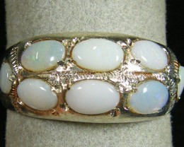 TRIBAL OPAL GEMSTONE TIBETAN SILVER RING SIZE 12 TR579