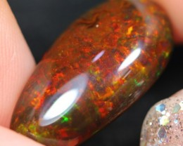 7.78cts Natural Untreated Dark Brown Ethiopian Welo Polished Opal