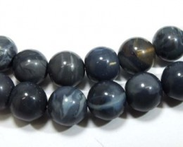 164 CTS BLACK OPAL BEADS NECKLACE TBO-4452