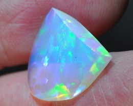7.25ct ETHIOPIAN WELLO FREE FORM AURORA MAGIC CRYSTAL GEM OPAL BLUE FIRE