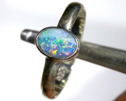 8.50 CTS DOUBLET OPAL SILVER RING OF-1268