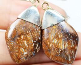 YOWAH OPAL SILVER EARRINGS-FACTORY DIRECT [SOJ1590]