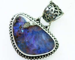 BOULDER OPAL PENDANT -FACTROY DIRECT [SOJ1597 ]