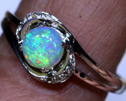 11.15 CTS CRYSTAL  OPAL SILVER RING OF-1282 OPALSFOREVER