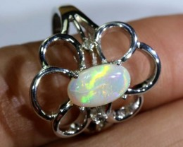 24.25 CTS WHITE OPAL SILVER RING OF-1297