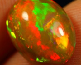 2.85cts BRIGHTNESS 5/5 BROAD FIRE Natural Untreated Ethiopian Welo Opal
