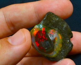 75.15ct Nice Red Rough Rare Solid Welo Opal
