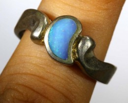 25.90 CTS DOUBLET OPAL SILVER RING OF-1315