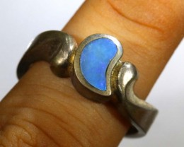 27.10 CTS DOUBLET OPAL SILVER RING OF-1316