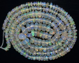 38.00 Ct Natural Ethiopian Welo Opal Beads Play Of Color