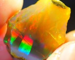 12.6Ct Rainbow Ribbon Color Ethiopian Welo Specimen Rough Opal