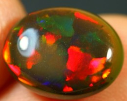 2.85cts SPLENDID RED PIECE PATTERN Natural Untreated Ethiopian Welo Opal
