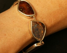 MULTI FIRE FLASH BOULDER OPAL BRACELET 48 CTS BU1631