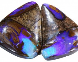 63.15 CTS BOULDER OPAL PAIR -WELL POLISHED [SH105 ]TRAY