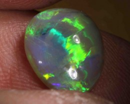 FREE SHIPPING  4.58 CTS  BLACK CRYSTAL OPAL FROM LR - FREE SHIPPING