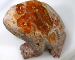 MEXICAN FIRE OPAL CARVING  61 CTS - LO-3737