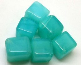 32.95 CTS PERUVIAN BLUE OPAL BEADS DRILLED PARCEL (6PCS)  LO-3836