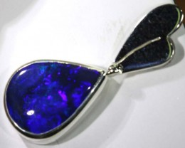 16.95 CTS SILVER BLACK OPAL PENDANT OF-1360