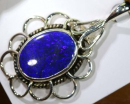 35 CTS SILVER BLACK OPAL PENDANT INV-279