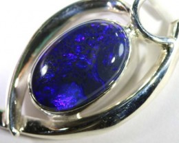 42.60 CTS SILVER BLACK OPAL PENDANT INV-281