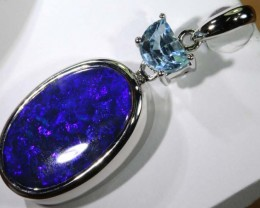 33 CTS SILVER BLACK OPAL PENDANT INV-282