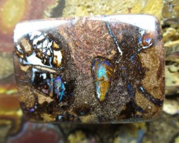 "31cts.""MINNING NOW"" BOULDER MATRIX OPAL,"