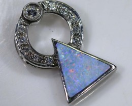 11.8 CTS SILVER DOUBLET OPAL PENDANT OF-1373