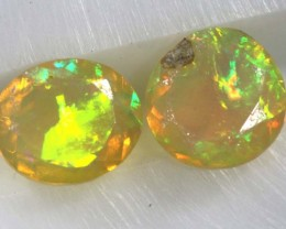 0.90 CTS ETHIOPIAN WELO FACETED STONE PARCEL (2PCS) FOB-683