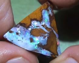 15.50 ct Blue Green Color Solid Boulder Opal Rough Rub
