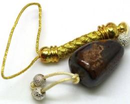 34 CTS Australian Yowah Opal Phone Chain LO-3892