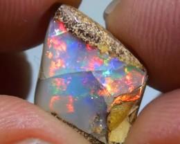 4.10 ct Gem Multi Color Queensland Pipe Opal