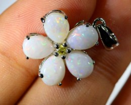 8.45 CTS WHITE OPAL SILVER PENDANT OF-1421