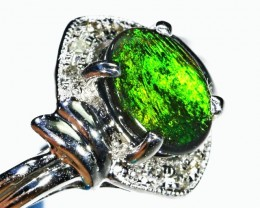 Black Opal 18k White gold Ring  BU2010