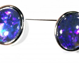 22.90 CTS BLACK OPAL EARRINGS INV-296 gc