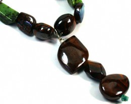 OPAL AND GEMSTONE BEAD NECKLACE 1140 CTS EM 569