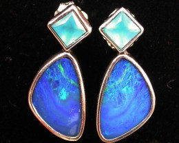 18.60 CTS DOUBLET OPAL/CHAL EARRING-FACTORY DIRECT [SJ2171]