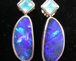 22.15 CTS DOUBLET OPAL/CHAL EARRING-FACTORY DIRECT [SJ2176]