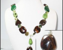 941.50 CTS CHUNKY BOULDER AND GEMSTONE NECKLACE SJ2000