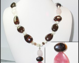 836.80 CTS CHUNKY BOULDER AND GEMSTONE NECKLACE SJ2001