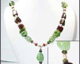 697.20 CTS CHUNKY BOULDER AND GEMSTONE NECKLACE SJ2005