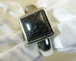 "925 SILVER RING ""FAIRY"" OPAL MATRIX Ring Size 10 #LMJ15"
